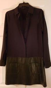 Rachel Zoe(real)Leather Bottom Dress
